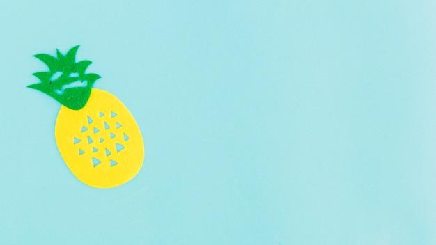 Icona di ananas su sfondo chiaro