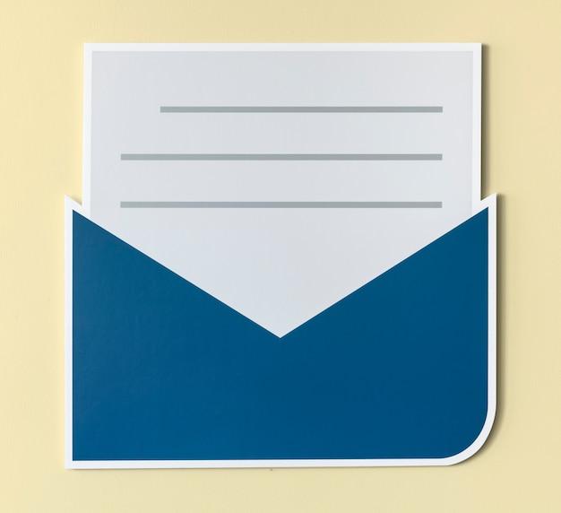 Icona di avviso e-mail lettera aperta