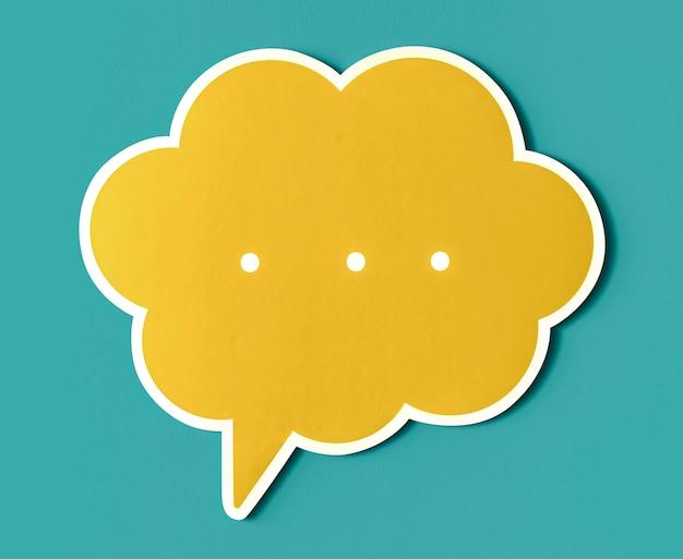 Icona di discorso bolla conversazione tagliata