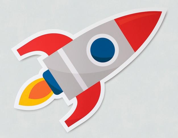 Icona di lancio del simbolo della nave del razzo