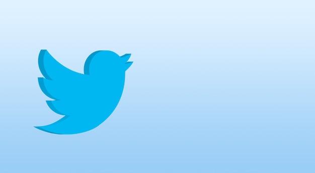 Icona di twitter 3d