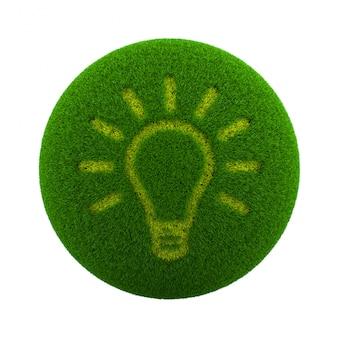 Icona idea sfera erba