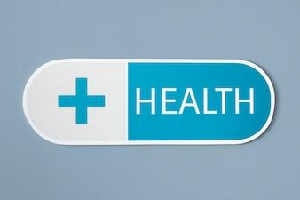 Icona medica di salute e medicina