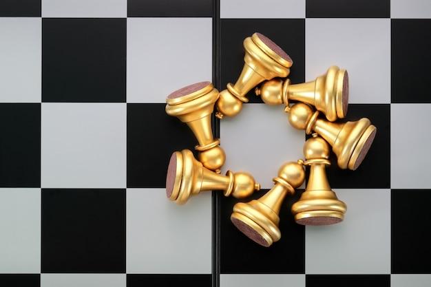 Idea del gioco di scacchiera della strategia di gestione