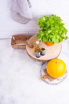 Idea di organizzazione dello spazio in cucina