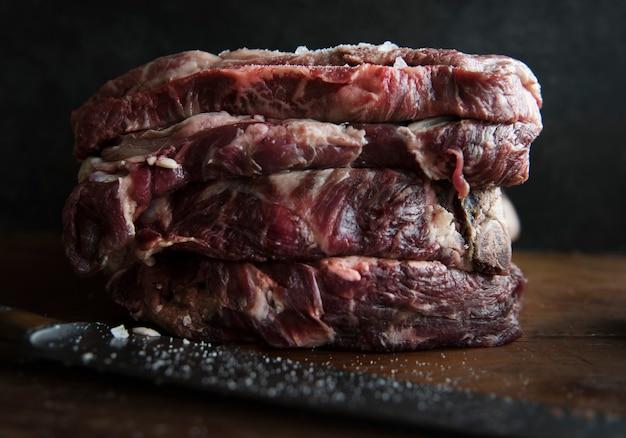 Idea di ricetta di fotografia di bistecca di manzo