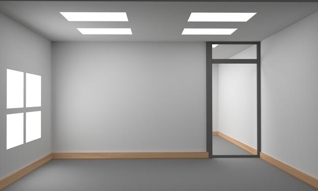 Idea di un interno bianco vuoto stanza scandinava. sfondo interno home interni nordici. illustrazione 3d