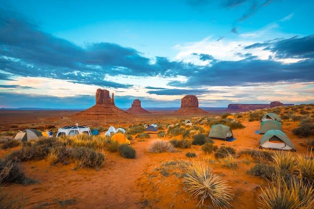 Il bellissimo campeggio the view campground nella stessa monument valley.