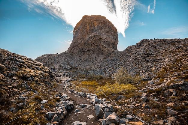 Il bellissimo sentiero escursionistico jokulsargljufur, islanda