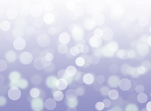 Il bokeh astratto delle luci d'argento illumina la priorità bassa