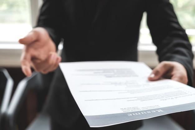 Il business trova un nuovo lavoro, intervista il lavoro e l'assunzione.