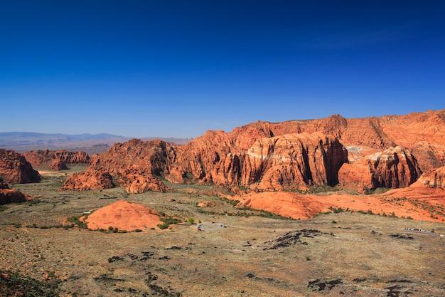 Il canyon della neve trascura il paesaggio nell'utah