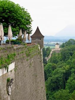 Il castello di salisburgo, in austria