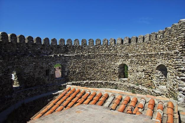 Il castello nella città di signagi, georgia