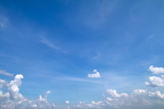 Il cielo blu con sfondo nuvole ha spazio per mettere testo o prodotto