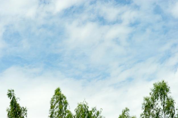 Il cielo e le nuvole blu in una giornata blu brillante cielo e belle nuvole