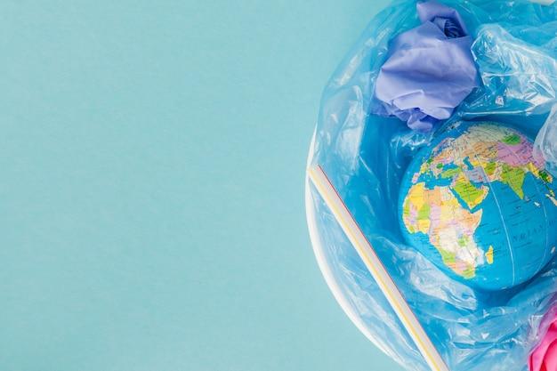 Il concetto di riduzione dell'uso dei sacchetti di plastica
