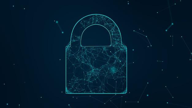 Il concetto di sicurezza informatica della rete di tecnologia di internet di protegge l'attacco del virus informatico