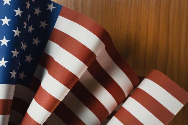 Il concetto di veterans day bandiera degli stati uniti d'america