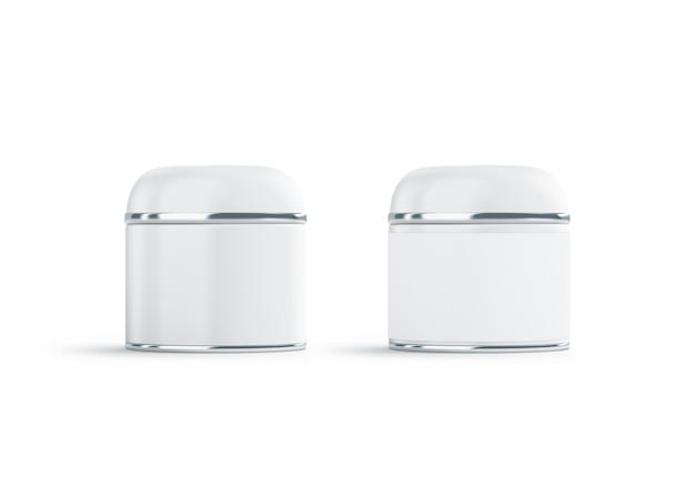 Il cosmetico bianco in bianco due può deridere su, isolato