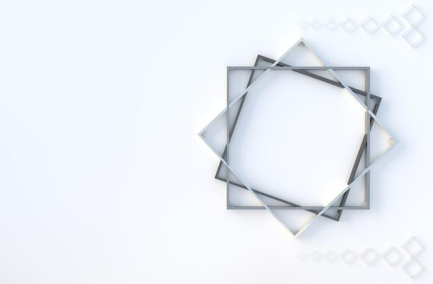 Il cubo geometrico bianco modella il fondo