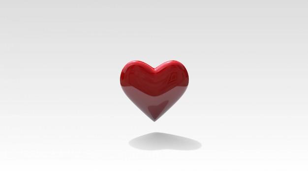 Il cuore 3d rende il fondo