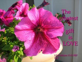 Il dono più grande è l'amore