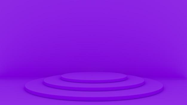 Il fondo astratto 3d rende. piattaforma per la visualizzazione del prodotto. posto sul podio interno.