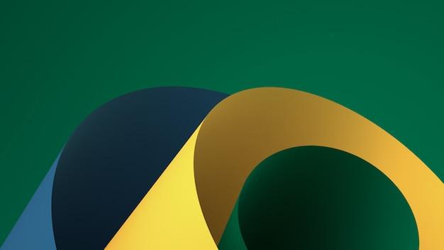 Il fondo astratto minimalista, le figure geometriche primitive, i colori pastelli, 3d rendono.