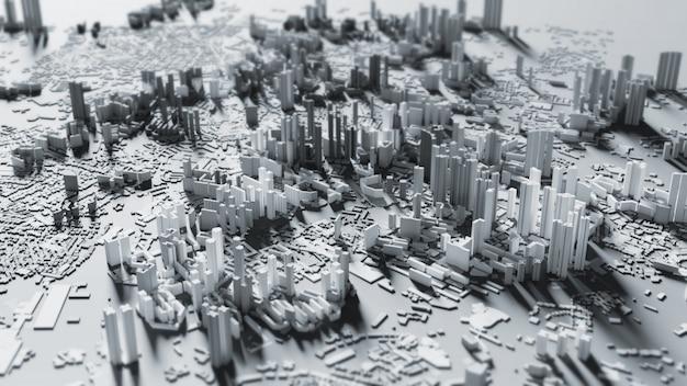Il fondo astuto 3d di progettazione della città rende