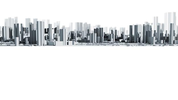 Il fondo astuto di progettazione della città con lo spazio 3d della copia rende