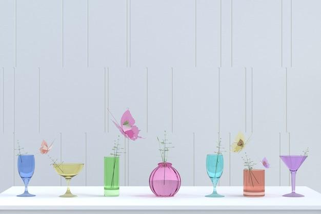 Il fondo di vetro variopinto sul giorno del partito del nuovo anno e di natale rende