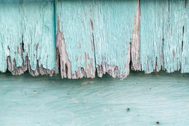 Il legno blu pastello è andato decadendo nel tempo e nel tempo.