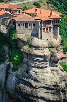 Il monastero di agrifoglio di varlaam, meteora, grecia