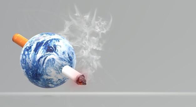 Il mondo della rappresentazione 3d nessun fondo di immagine del giorno del tabacco.