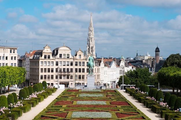 Il mont des arts a bruxelles, in belgio