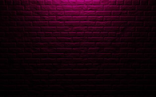 Il muro di mattoni nero per fondo 3d rende