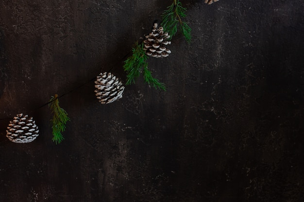 Il muro nero nella sala soppalco è decorato per capodanno e natale.