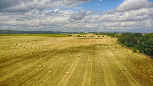 Il paesaggio rurale, raccoglie il onn un giorno nuvoloso