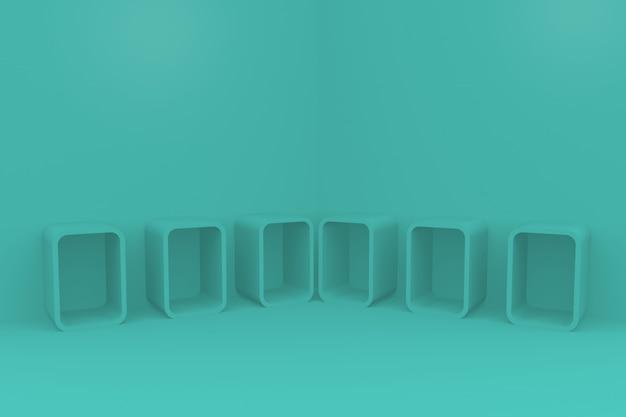 Il podio per l'esposizione mobile del prodotto in 3d rende