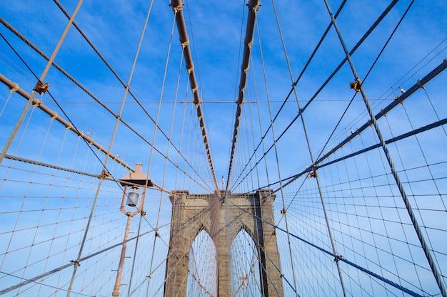 Il ponte di brooklyn, new york city, stati uniti d'america