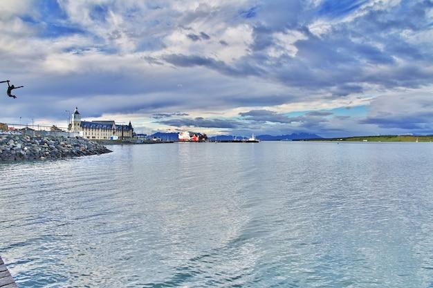 Il porto di puerto natales, cile