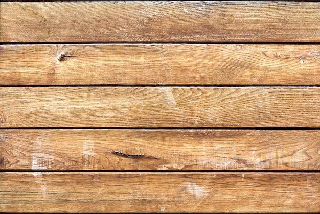 Il primo piano delle plance di legno marroni dorate gialle molli naturali si imbarca sulla superficie orizzontale. struttura, pavimento, panca, recinto o mobilia ecologici. copia spazio astratto.