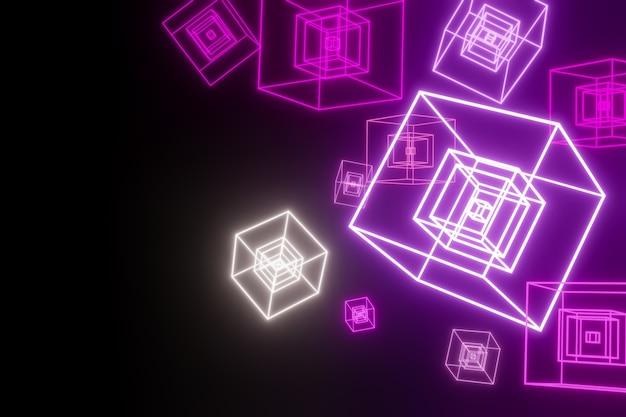 Il rosa illumina le scatole sui precedenti neri.