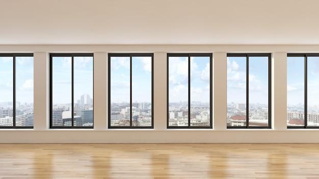 Il salone moderno 3d rende