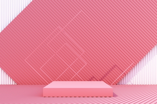 Il supporto del prodotto con il fondo 3d della lamina di metallo rende