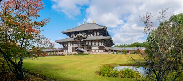 Il tempio todaiji è un complesso di templi buddisti, situato nella città di nara, in giappone