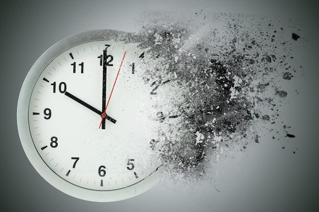Il tempo passa, si dissolve. concetto di tempo di fuga.