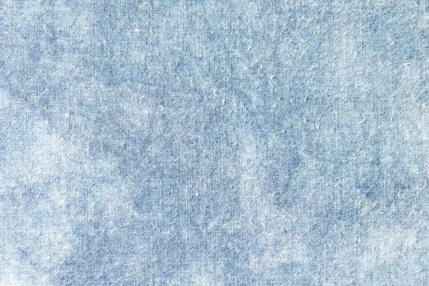 Il tessuto è tinta indaco, tessuto locale, motivo colorante indaco su tessuto di cotone
