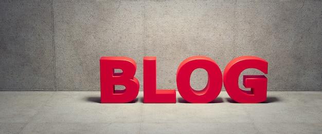 Il testo del blog 3d rende